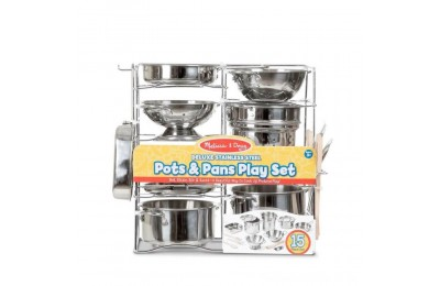 Black Friday 2020 Melissa & Doug Deluxe Stainless Steel Pots & Pans Play Set Deal