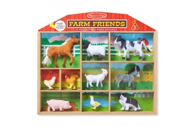 Melissa & Doug Farm Friends - 10 Collectible Farm Animals Deal