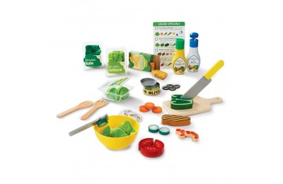 Melissa & Doug Slice and Toss Salad Play Food Set - 52pc Wooden and Felt Deal