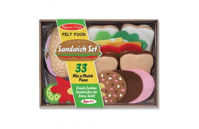 Black Friday 2020 Melissa & Doug Felt Food Sandwich Play Food Set (33pc) Deal