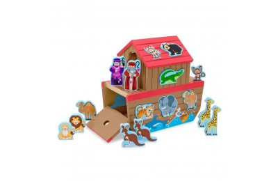 Melissa & Doug Noah's Ark Wooden Shape Sorter Educational Toy (28pc) Deal