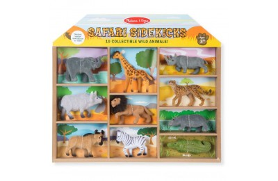 Melissa & Doug Safari Sidekicks - 10 Collectible Wild Animals Deal