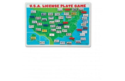 Black Friday 2020 Melissa & Doug Flip to Win Travel License Plate Game, Kids Unisex Deal