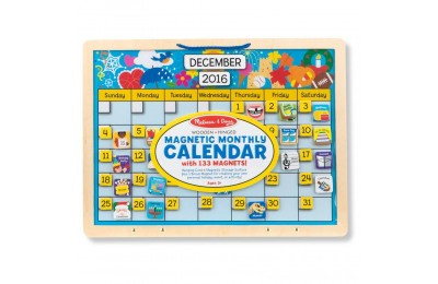 Black Friday 2020 Melissa & Doug Monthly Magnetic Calendar With 133 Magnets and 2 Fabric-Hinged Dry-Erase Boards Deal