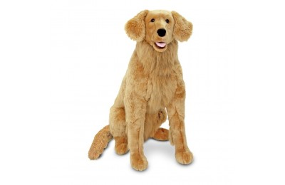 Black Friday 2020 Melissa & Doug Giant Golden Retriever - Lifelike Stuffed Animal Dog (over 2 feet tall) Deal