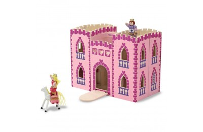 Black Friday 2020 Melissa & Doug Fold and Go Wooden Princess Castle With 2 Royal Play Figures, 2 Horses, and 4pc of Furniture Deal