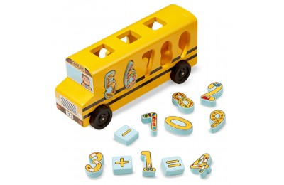 Black Friday 2020 Melissa & Doug Number Matching Math Bus - Educational Toy With 10 Numbers, 3 Math Symbols, and 5 Double-Sided Cards Deal