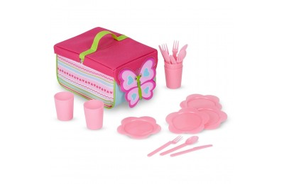 Melissa & Doug Sunny Patch Cutie Pie Butterfly Picnic Set With Basket, Plates, and Utensils Deal