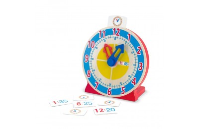 Black Friday 2020 Melissa & Doug Turn & Tell Wooden Clock - Educational Toy With 12+ Reversible Time Cards Deal