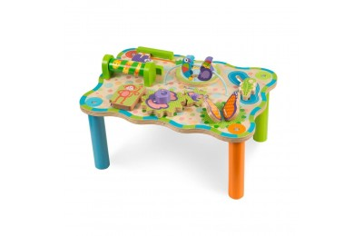 Black Friday 2020 Melissa & Doug First Play Childrens Jungle Wooden Activity Table for Toddlers Deal