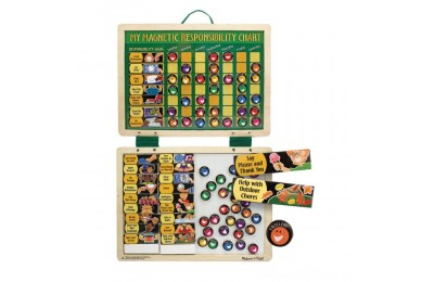 Black Friday 2020 Melissa & Doug Deluxe Wooden Magnetic Responsibility Chart With 90 Magnets Deal