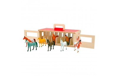 Melissa & Doug Take-Along Show-Horse Stable Play Set With Wooden Stable Box and 8 Toy Horses Deal