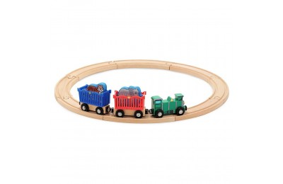 Black Friday 2020 Melissa & Doug Zoo Animal Wooden Train Set (12+pc) Deal