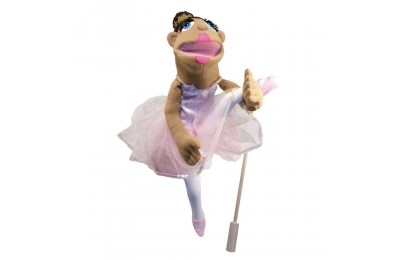 Black Friday 2020 Melissa & Doug Ballerina Puppet - Full-Body With Detachable Wooden Rod for Animated Gestures Deal