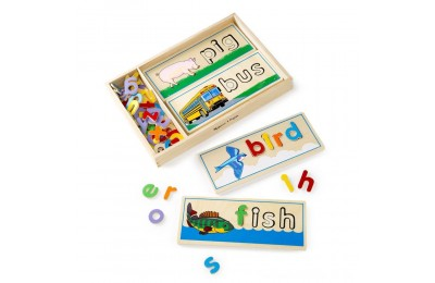 Melissa & Doug See & Spell Wooden Educational Toy With 8 Double-Sided Spelling Boards and 64 Letters Deal