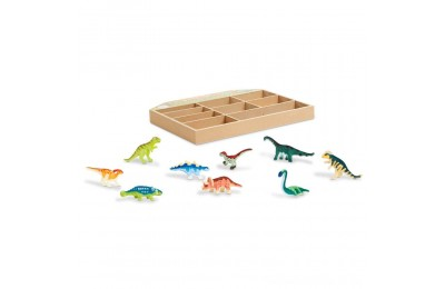 Melissa & Doug Dinosaur Party Play Set - 9 Collectible Miniature Dinosaurs in a Case Deal