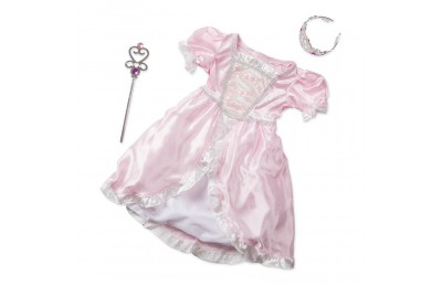 Black Friday 2020 Melissa & Doug Princess Role Play Costume Set (3pc)- Pink Gown, Tiara, Wand, Women's, Size: Small Deal