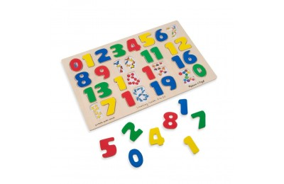Melissa & Doug Numbers 0-20 Wooden Puzzle (21pc) 32pc Deal