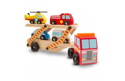 Melissa & Doug Wooden Emergency Vehicle Set of 6 Deal