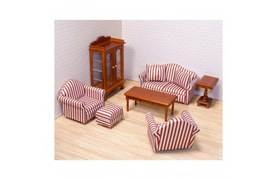 Black Friday 2020 Melissa & Doug Classic Victorian Wooden and Upholstered Dollhouse Living Room Furniture (9pc) Deal