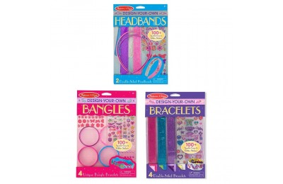 Black Friday 2020 Melissa & Doug Design-Your-Own Jewelry-Making Kits - Bangles, Headbands, and Bracelets Deal