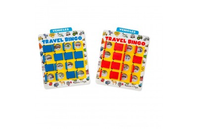 Melissa & Doug Flip to Win Travel Bingo Game - 2 Wooden Game Boards, 4 Double-Sided Cards, Kids Unisex Deal