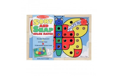 Melissa & Doug Sort and Snap Color Match - Sorting and Patterns Educational Toy Deal