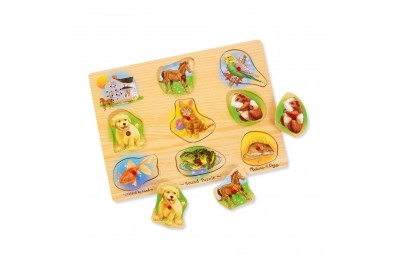 Melissa & Doug Assorted Pets Sound Puzzle Set - 9pc Deal
