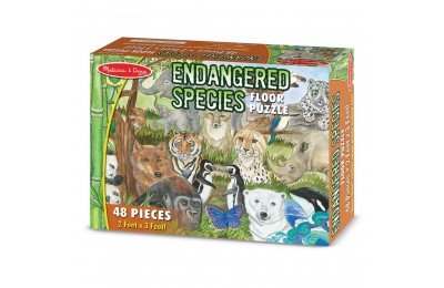 Black Friday 2020 Melissa And Doug Endangered Species Jumbo Floor Puzzle 48pc Deal