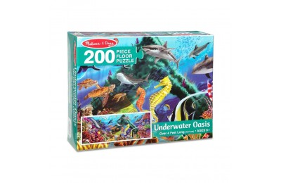 Melissa And Doug Underwater Oasis Jumbo Floor Puzzle 200pc Deal