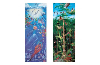Melissa & Doug Under the Sea and Rainforest Cardboard Floor Puzzle Set 2pc, Kids Unisex Deal