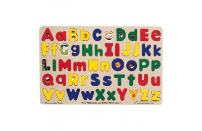 Melissa & Doug Upper & Lower Case Alphabet Letters Wooden Puzzle (52pc) Deal