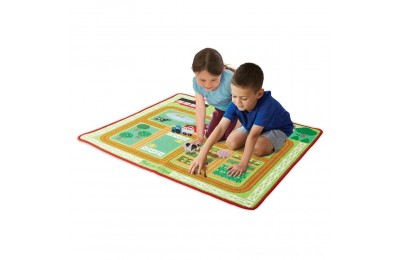 Melissa & Doug Round the Barnyard Farm Rug, Kids Unisex Deal