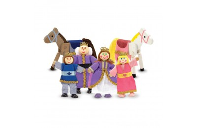 Melissa & Doug Royal Family Wooden Doll Set - 6pc Deal
