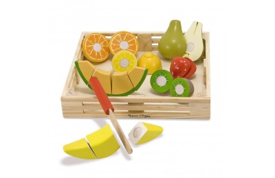 Melissa & Doug Cutting Fruit Set - Wooden Play Food Kitchen Accessory Deal
