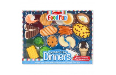 Melissa & Doug Food Fun Combine & Dine Dinners - Blue Deal