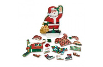 Melissa & Doug Santa Wooden Dress-Up Doll and Stand With Magnetic Accessories (22pc) Deal