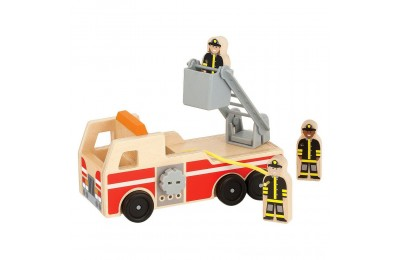 Melissa & Doug Wooden Fire Truck With 3 Firefighter Play Figures Deal