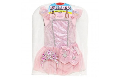 Melissa & Doug Ballerina Role Play Costume Set (4pc) - Includes Ballet Slippers, Tutu, Women's, Size: Small, Pink Deal