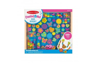 Melissa & Doug Bead Bouquet Deluxe Wooden Bead Set With 220+ Beads for Jewelry-Making Deal