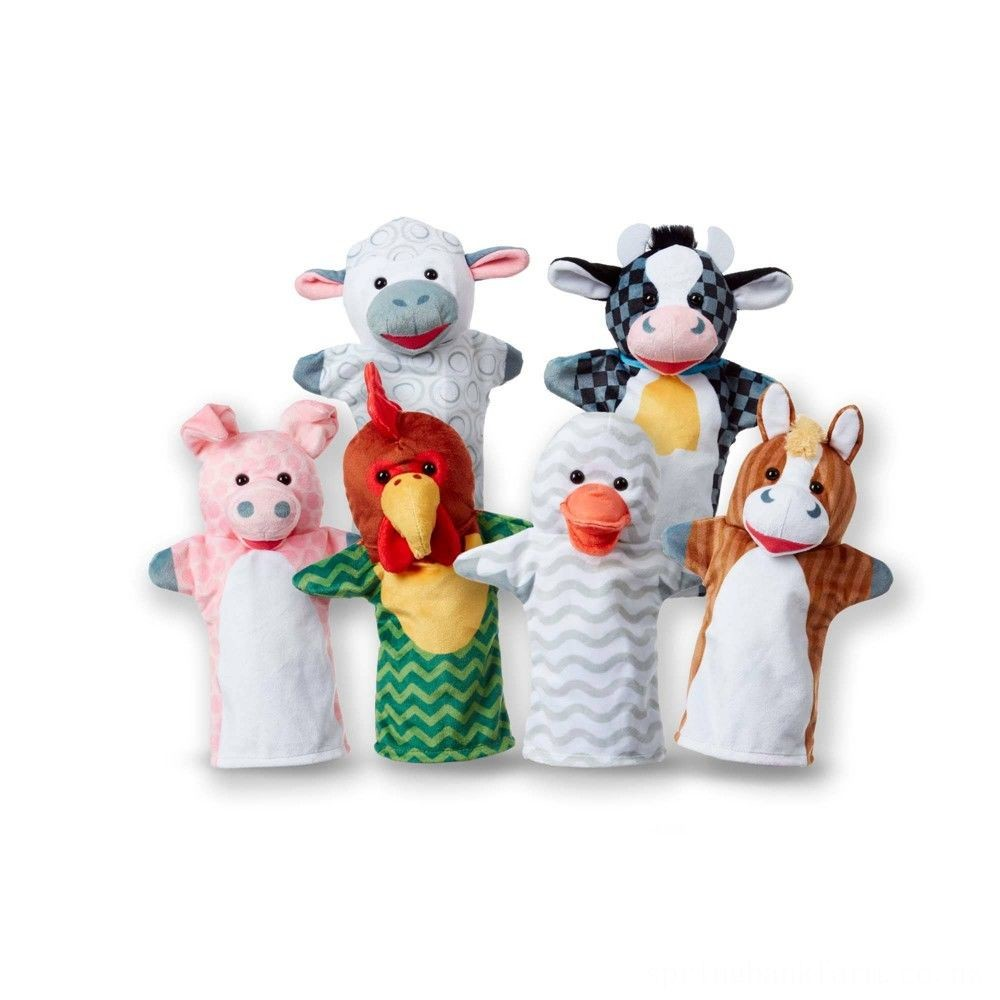 Melissa & Doug Barn Buddies Hand Puppets 6pc Deal