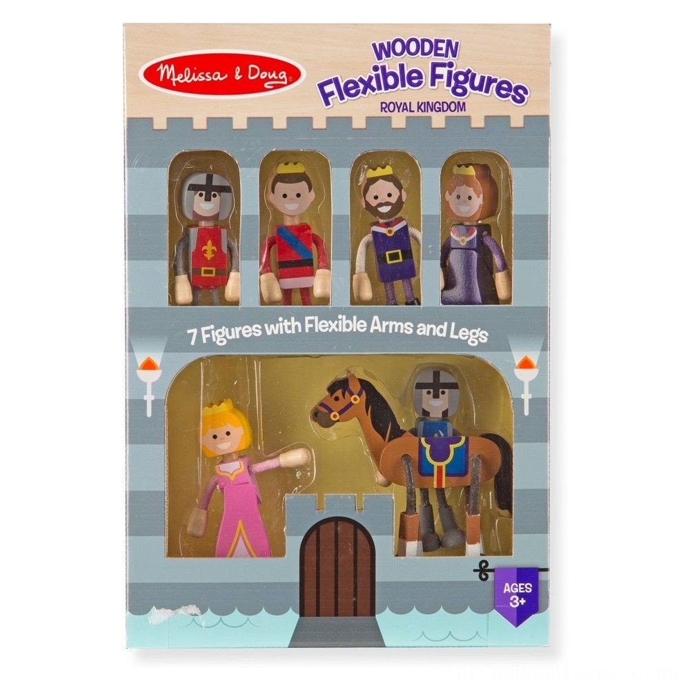 Melissa & Doug Wooden Flexible Figures - Royal Kingdom Deal