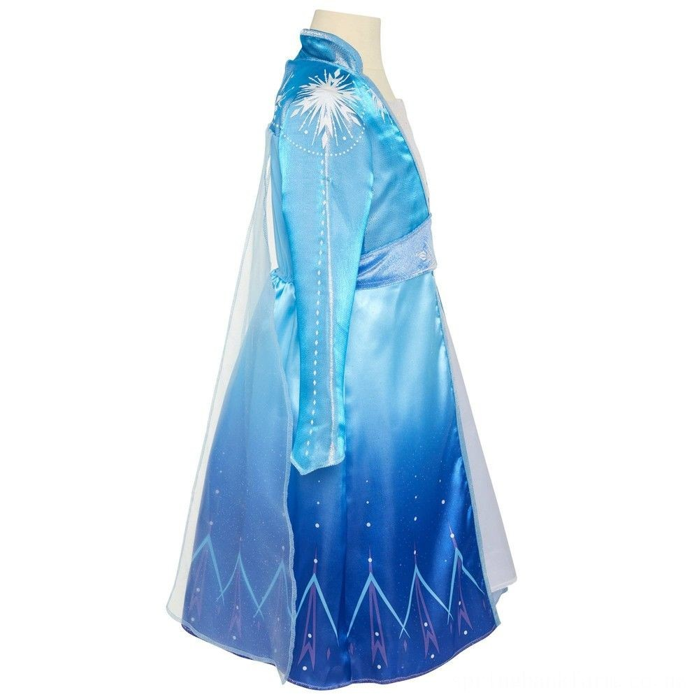 Disney Frozen 2 Elsa Travel Dress, Size: Small, MultiColored Deal