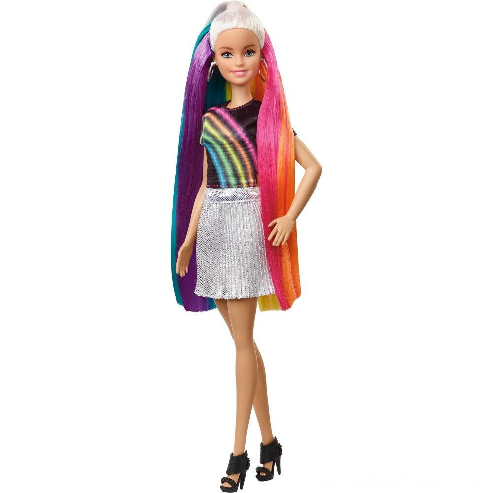 Barbie Rainbow Sparkle Hair Barbie Doll Deal