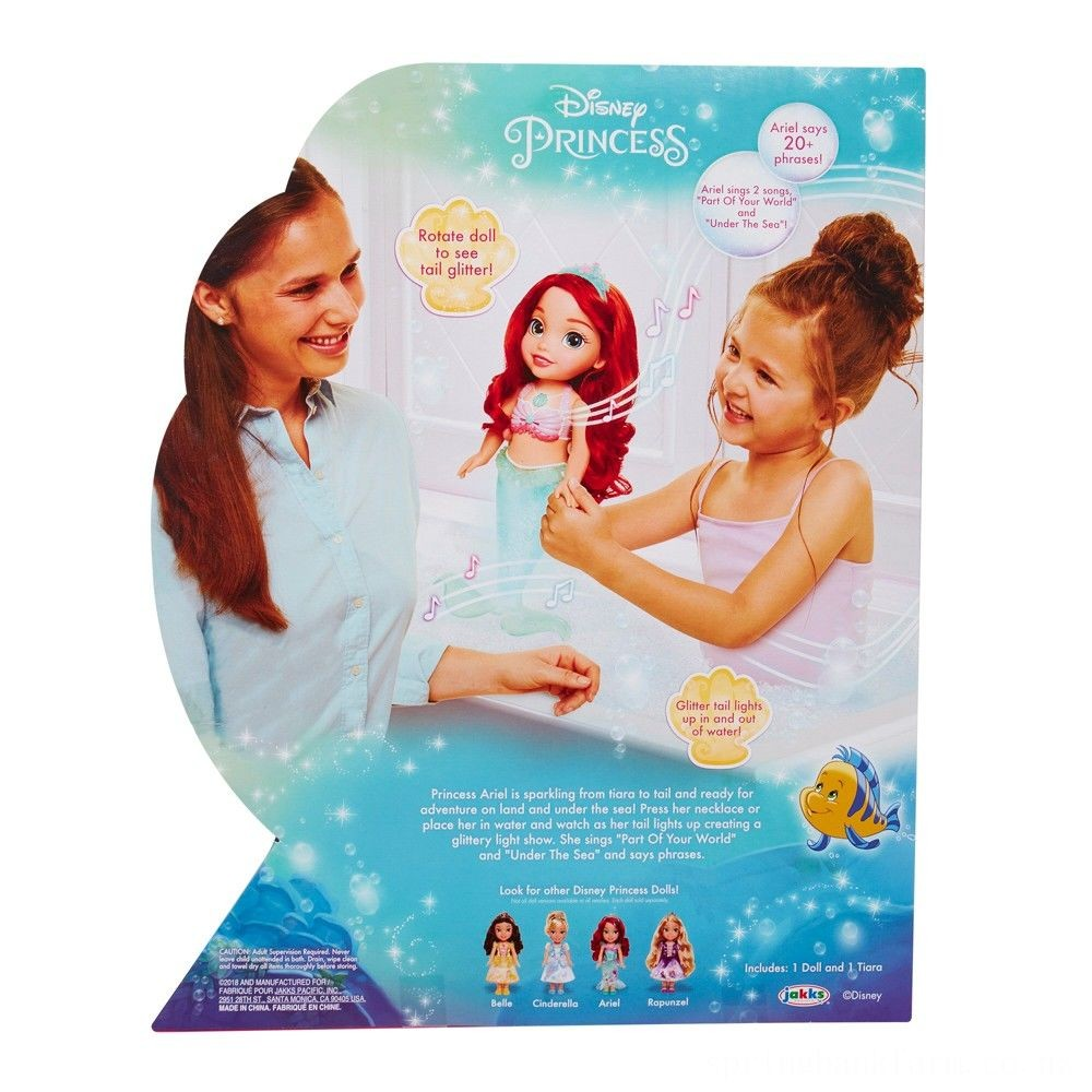 Disney Princess Sing & Sparkle Ariel Bath Doll Deal