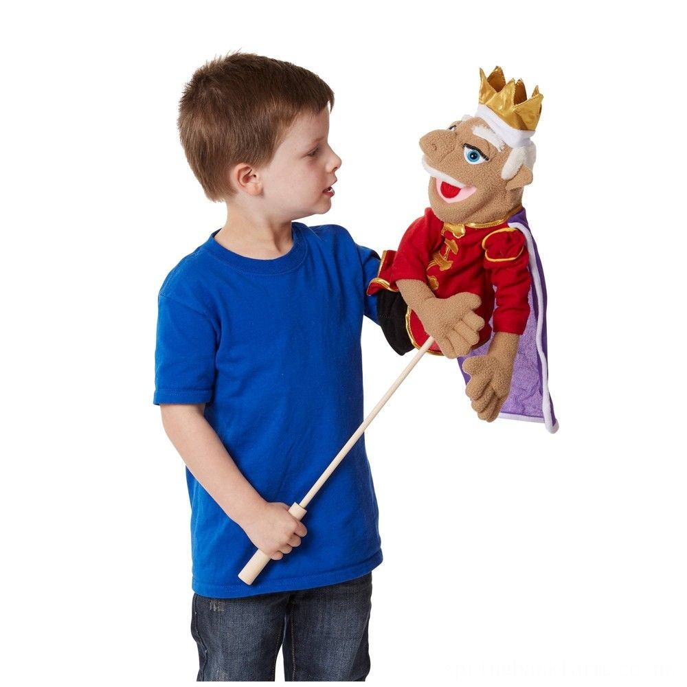 Melissa & Doug King Puppet With Detachable Wooden Rod for Animated Gestures Deal