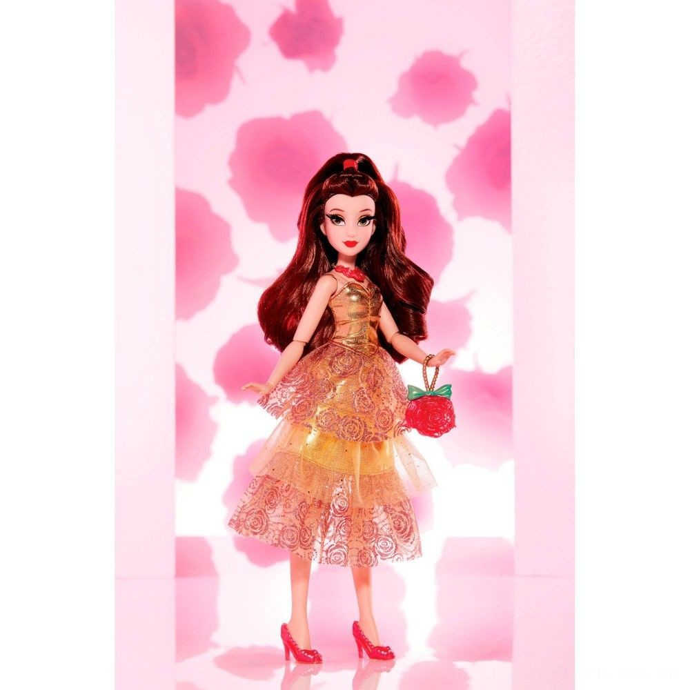 Disney Princess Style Series - Belle Doll in Contemporary Style with Purse & Shoes Deal