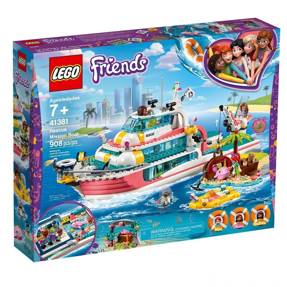 LEGO Friends Rescue Mission Boat 41381 Building Kit Sea Creatures for Creative Play 908pc Deal