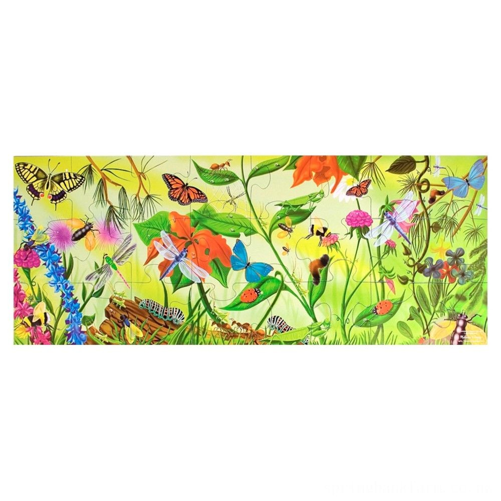 Melissa And Doug Bugs Jumbo Floor Puzzle 24pc Deal