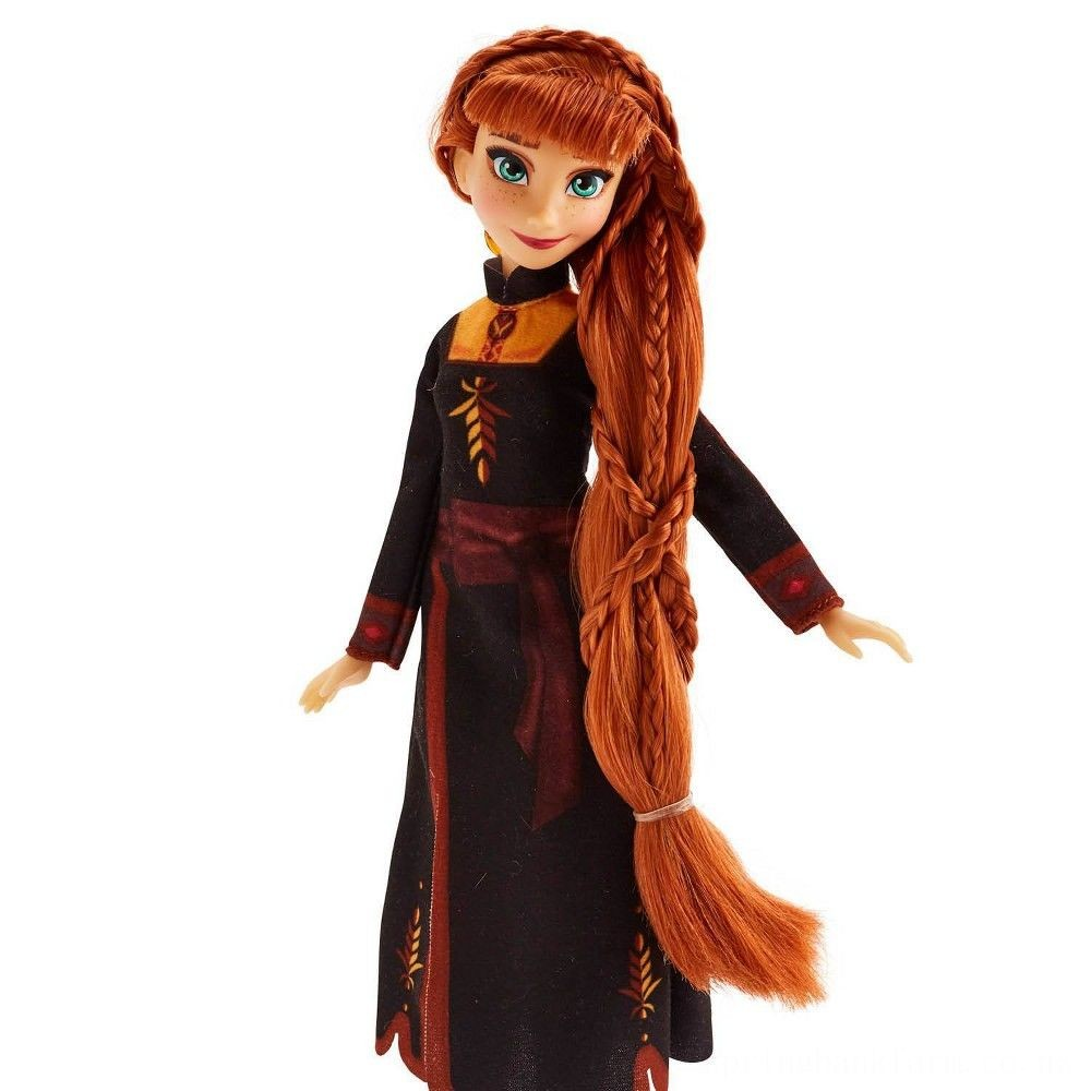Disney Frozen 2 Sister Styles Anna Fashion Doll With Extra-Long Red Hair, Braiding Tool and Hair Clips Deal